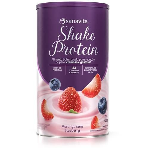 Shake Protein Sanavita - Morango - 450g