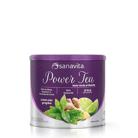 Power Tea Mate Verde & Matchá - Limão com Gengibre - 200g