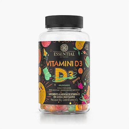 Vitamini D3 Gummy Essential Nutrition - 60 Gomas