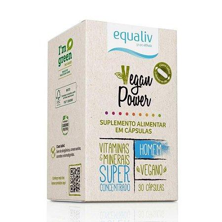 Equaliv Vegan Power Homem - 30 Cápsulas