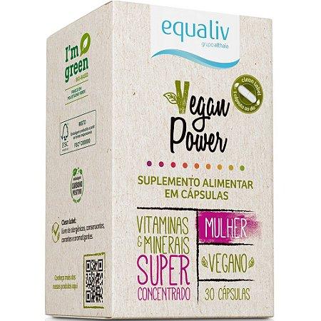 Equaliv Vegan Power Mulher - 30 Cápsulas