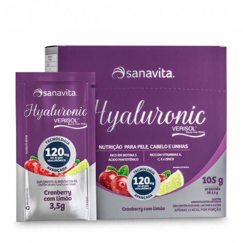 Hyaluronic Verisol Cranberry Sanavita - 30 Sachês