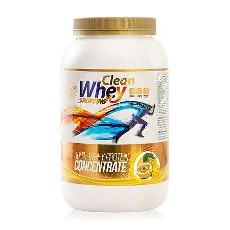 Clean Whey Concentrado Sporting Maracujá - 900g