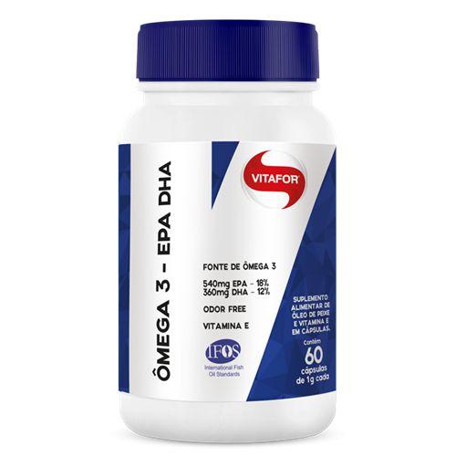 Ômega 3 - EPA DHA 1g 60 cápsulas Vitafor