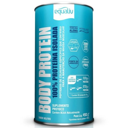 Body Protein Equaliv  - Proteína Isolada 450g