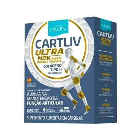 Equaliv Cartliv Ultra MDK - Colágeno Tipo II - 60 Cápsulas