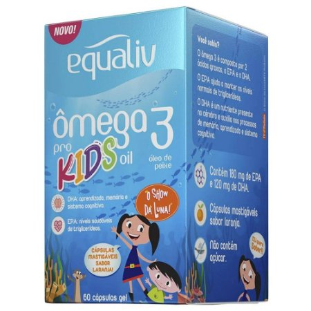 Equaliv Ômega 3 Pro Kids - 60 cápsulas