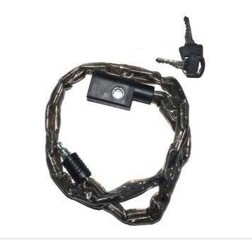 Cadeado Corrente 0,8mx3,5mm Chave Preto
