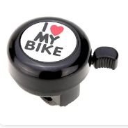 Buzina Ring Ring I Love My Bike - Preta