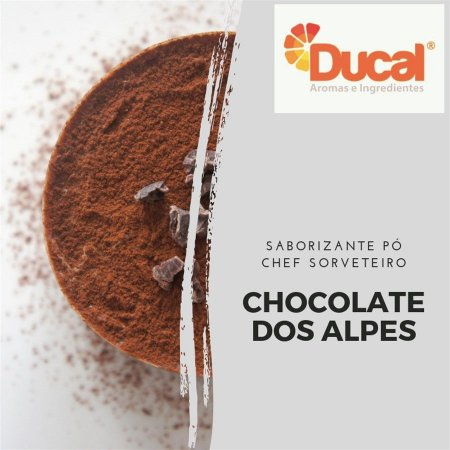 SABORIZANTE PÓ CHEF SORVETEIRO DUCAL AROMA CHOCOLATE DOS ALPES