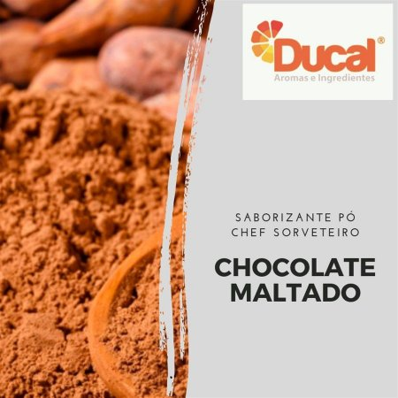 SABORIZANTE PÓ CHEF SORVETEIRO DUCAL AROMA CHOCOLATE MALTADO