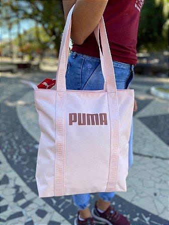 Bolsa Puma Core Base Shopper Feminina - Rosa Claro