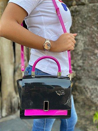 Bolsa Petite Jolie Match Preto/Pink Pitaya PJ5266
