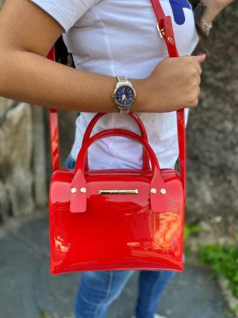 Bolsa Petite Jolie Lana Vermelha PJ6012