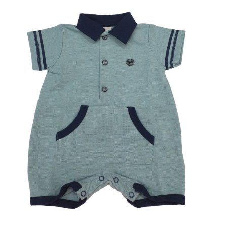 Anjos Baby Macacão para Bebê Menino Manga Curta Malha 213675