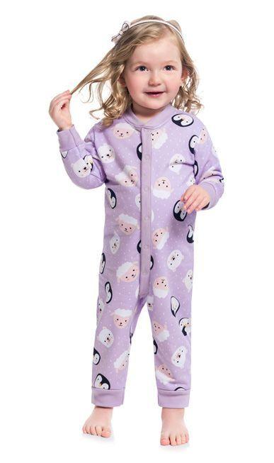 Kyly Pijama Infantil Feminino Manga Longa Moletom 207.233