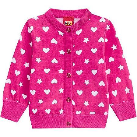 Kyly Casaco Infantil Feminina Manga Longa 207.087 Cor Rosa Pink