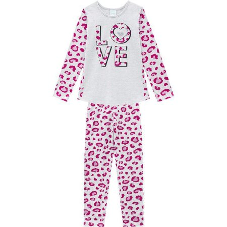 Kyly Pijama Inf Fem Ml 207.241 Cor Mescla