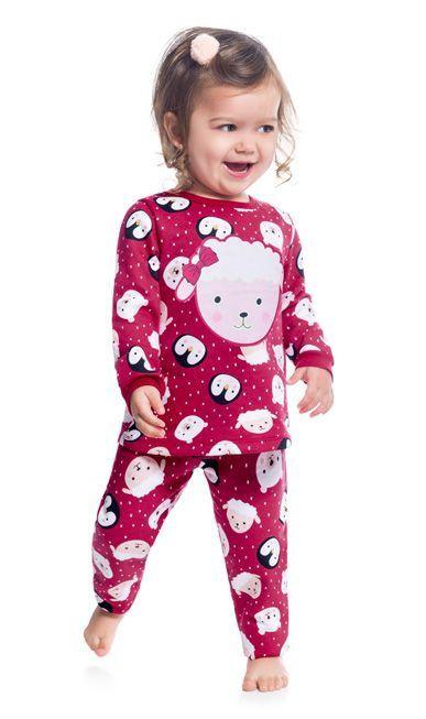 Kyly Pijama Inf Fem Ml 207.231 Cor Vermelho