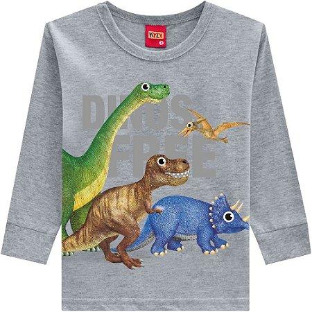 Kyly Camiseta Infantil Masculina Manga Longa Dinossauro 207.168