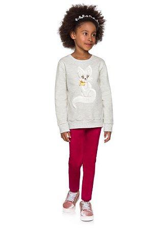 Brandili Conjunto Legging Longa Infantil Feminino 53664 Cor Cinza