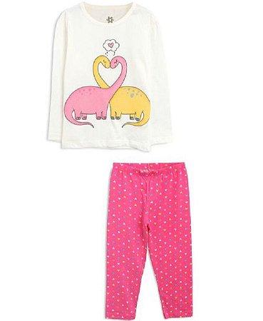 Brandili Pijama Feminino Manga Longa 53723 Cor Cinza