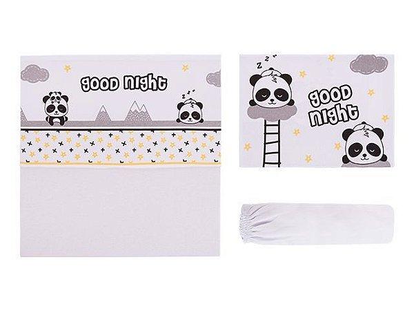 Colibri Jogo Lencol Bebê Berço  48007 Cor Panda
