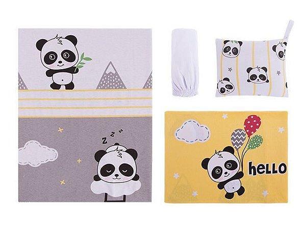 Colibri Jogo Lencol Bebê Carrinho 48009 Cor Panda