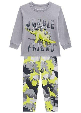 Brandili Pijama Infantil Masculino 53733 Cor Cinza Claro