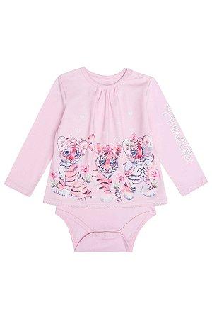 Infanti Conjunto Calca Infantil Feminino Manga Longa 40863 Cor Rosa