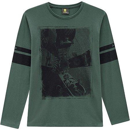 Lemon Camiseta Malha Masc Ml 80.905 Cor Verde Escuro