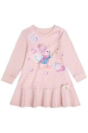 Infanti Vestido Infantil Manga Longa 40992 Cor Rose