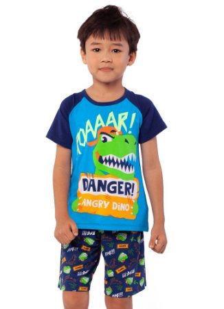 Puket Pijama Inf Masc 030402080 Cor Azul