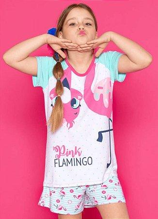 Puket Pijama Infantil Feminino 030501363 Cor Flamingo