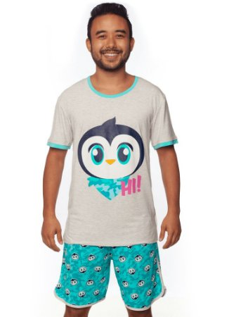 Puket Pijama 030602091 Cor Cinza