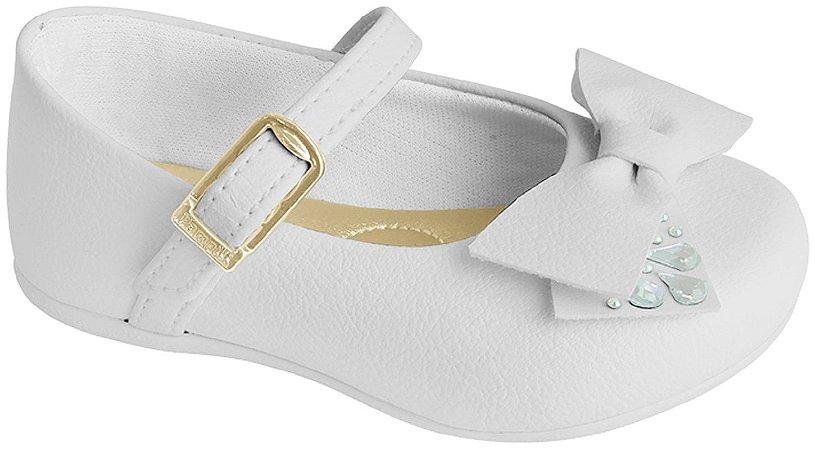 Pampili Sapato Recem Nascido Feminino 4879 Cor Branco