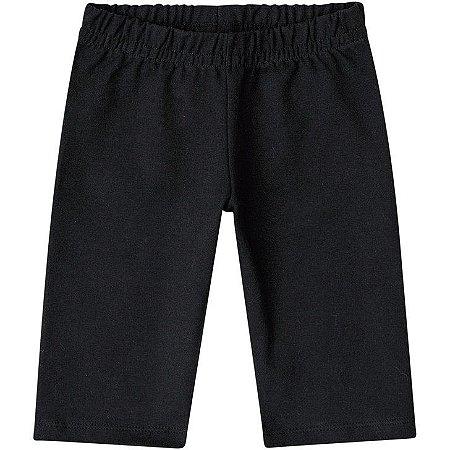 Kyly Bermuda Inf Fem Cotton 106.315 Cor Preto