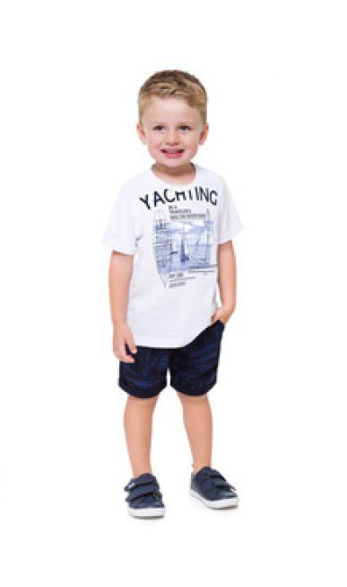 Milon Conjunto Infantil Masculino 12459 Cor Branco