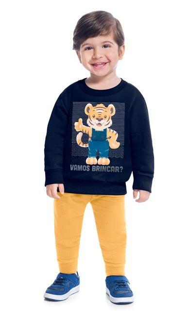 Kyly Conjunto Calca Infantil Masculina Manga Longa 207442