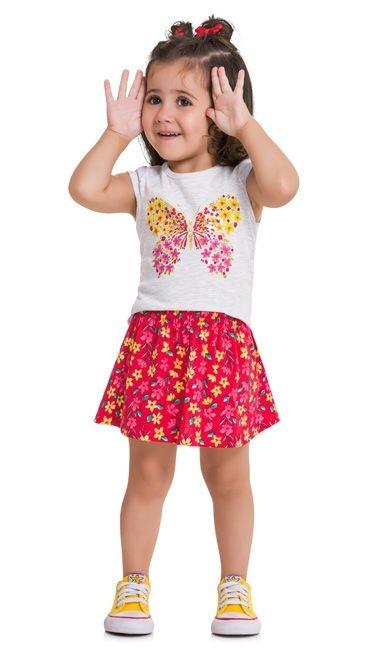 Kyly Conjunto Infantil Feminino 109.628  Claro