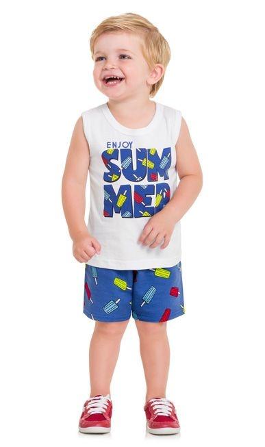 Kyly Conjunto Bermuda Infantil Masculino P109.706