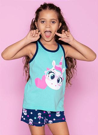 Puket Pijama Short Doll Regata Unicornio Eco 030501412