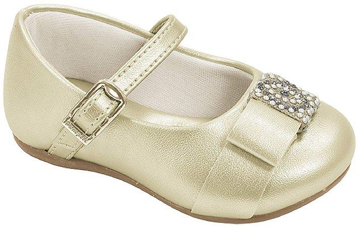 Pampili Sapato Feminino 4899 Cor Dourado