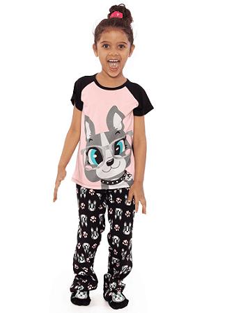 Puket Pijama Manga Curta Teen Visco Bulldog 030501568