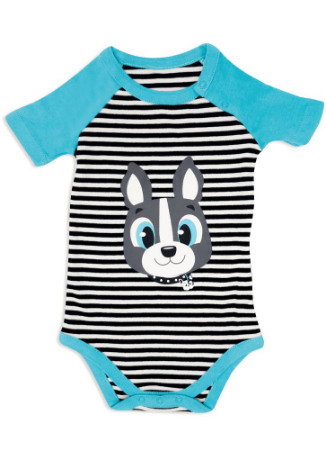Puket Pijama Manga Curta Baby Rib Bulldog 030200516