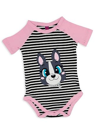 Puket Pijama Short Doll Manga Curta Baby Rib Bulldog 030200515