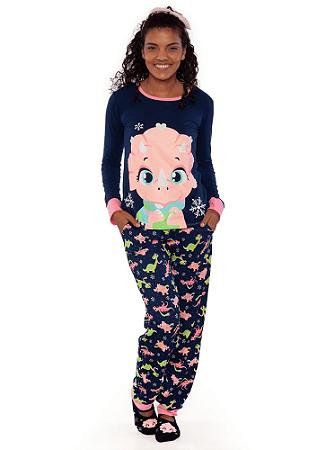 Puket Pijama Feminino Manga Longa 030602076