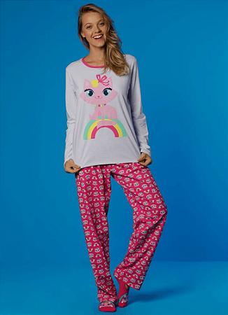 Puket Pijama Feminino Manga Longa 030601777