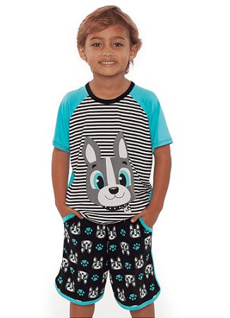 Puket Pijama Manga Curta Kids Visco Bulldog 030402038