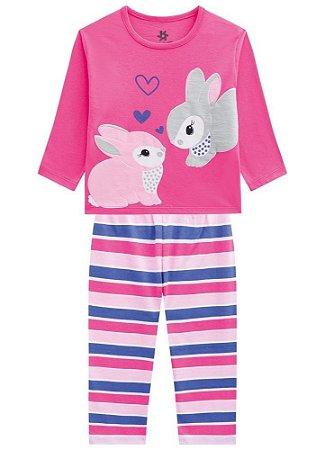Brandili Pijama Feminino Manga Longa 53726